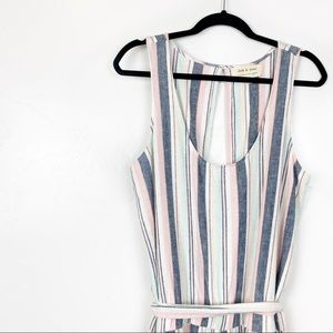 NWOT Anthro Cloth & Stone | Striped Linen Jumpsuit